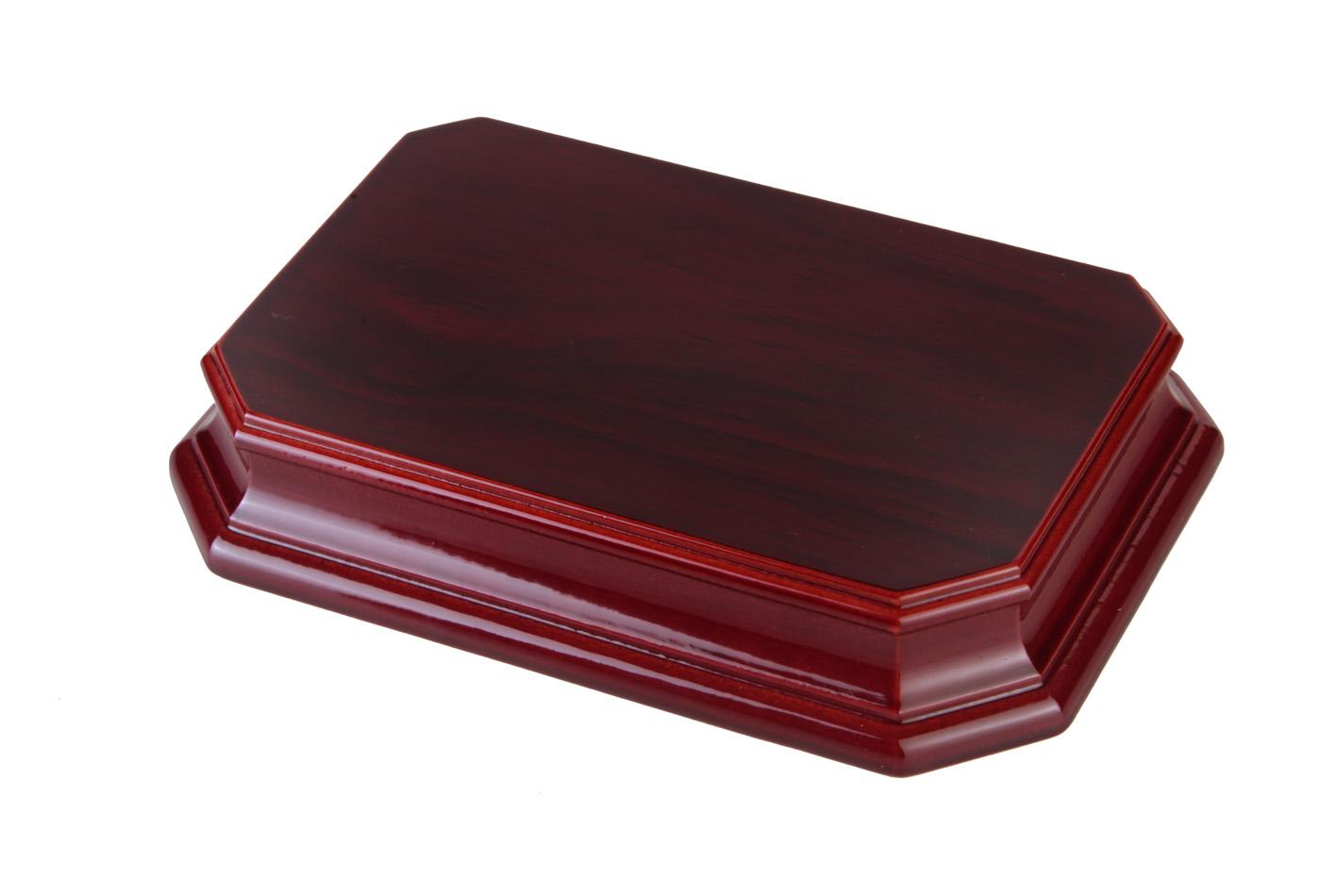 Peana octogonal rectangular etimoe caoba