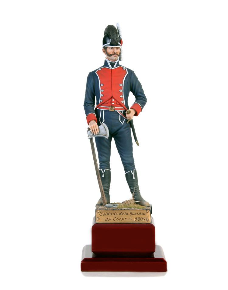 Soldado guardia de Corps 1801